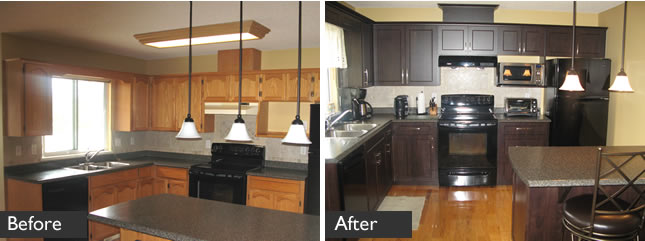Kitchen cabinet refacing in Abbotsford